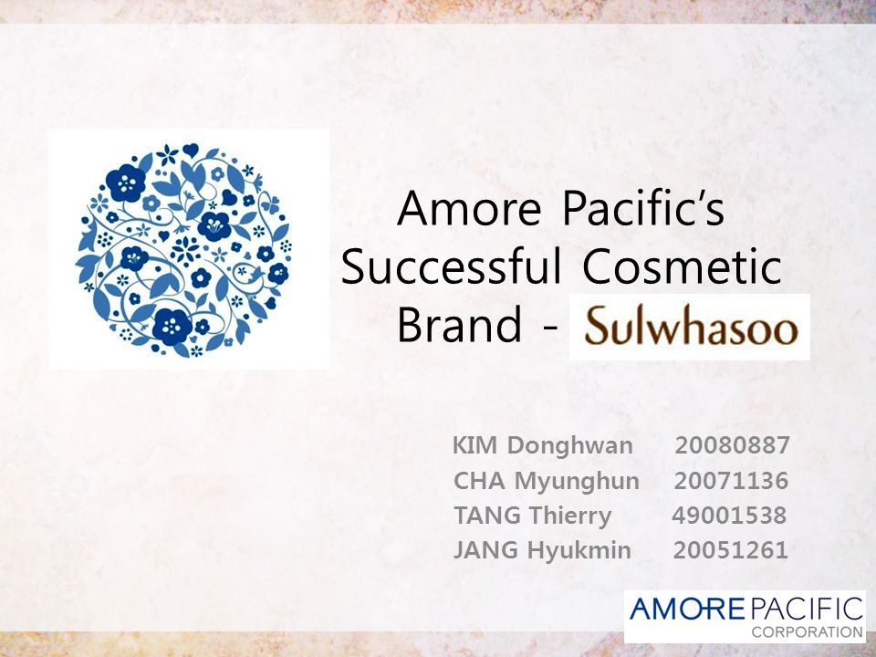 Amore Pacific's Successful Cosmetic Brand - sss