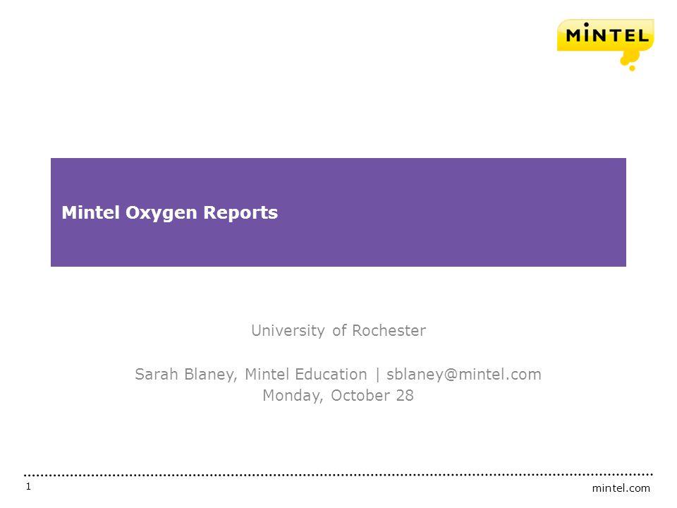 Mintel Oxygen Reports University of Rochester