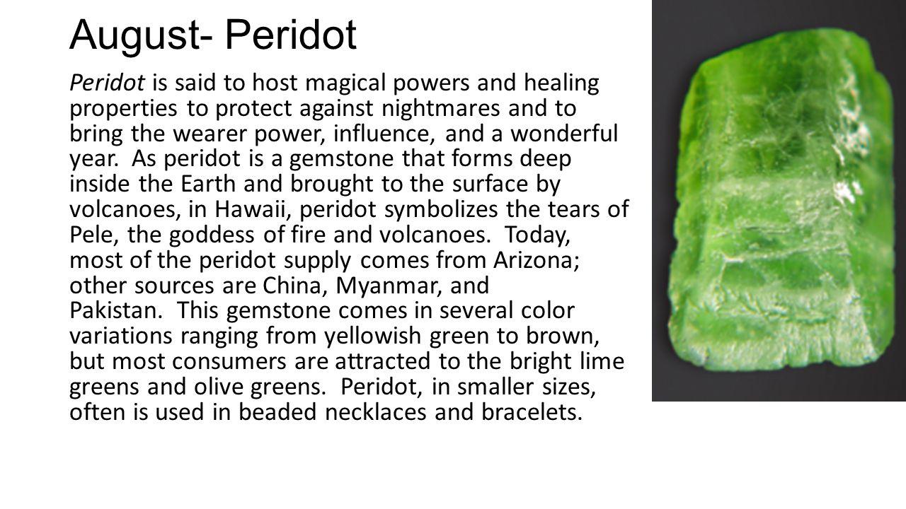 August- Peridot