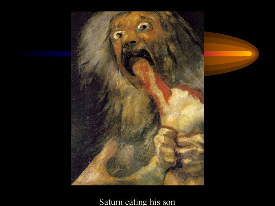 Saturn eating his son