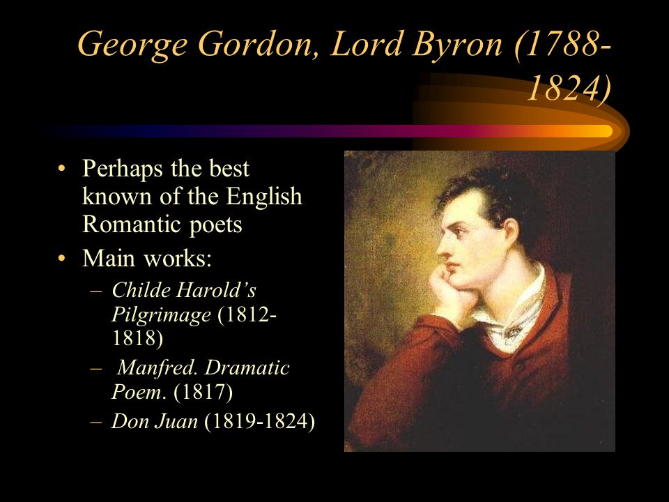 lord byron manfred a dramatic Manfred is a dramatic poem written in 1816–1817 by lord byron it contains supernatural elements, in keeping with the popularity of the ghost story in england at the time.