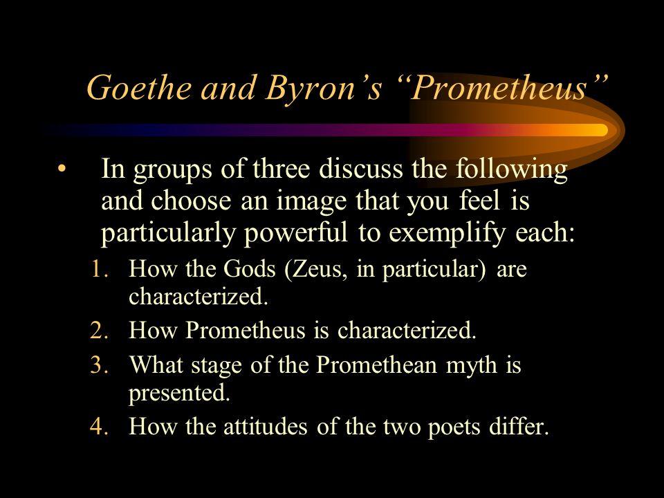 Goethe and Byron's Prometheus