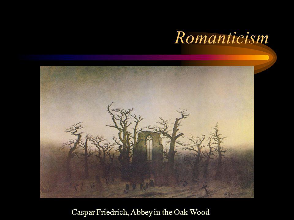Romanticism Caspar Friedrich, Abbey in the Oak Wood