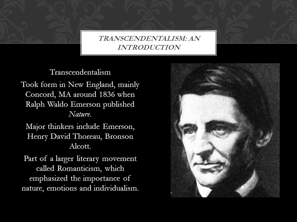 Transcendentalism: An introduction
