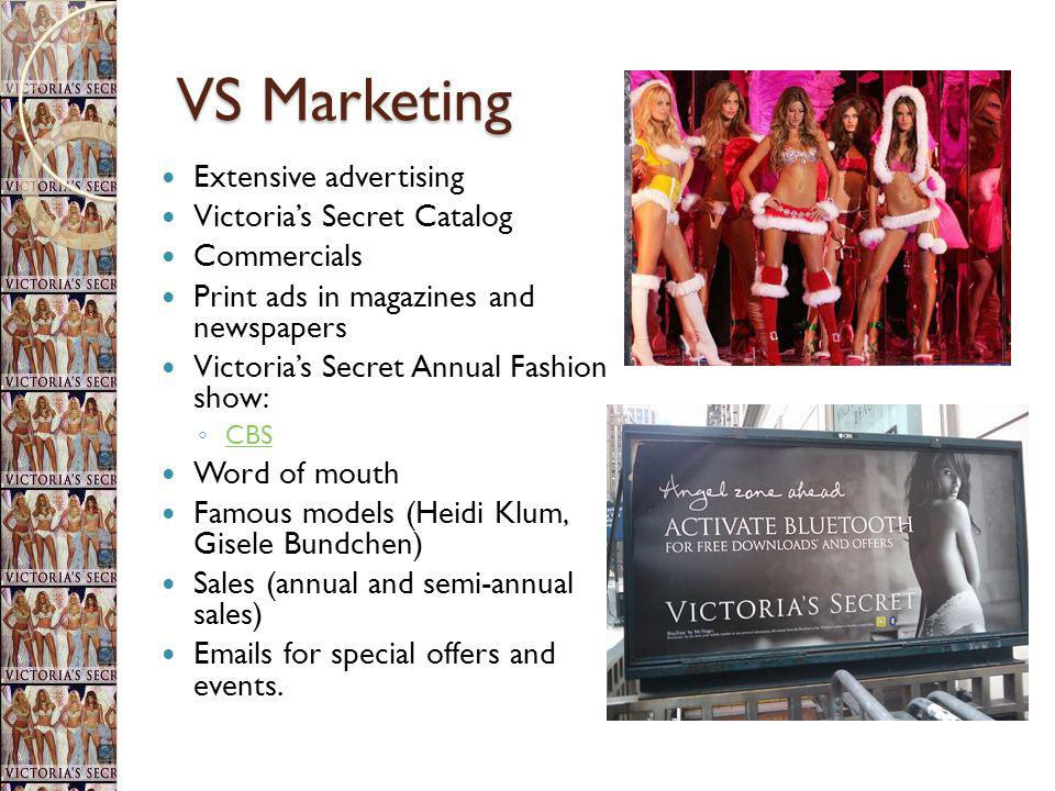 VS Marketing Extensive advertising Victoria's Secret Catalog