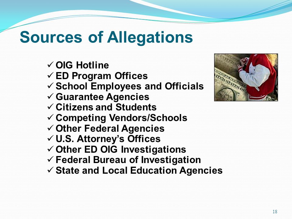 Sources of Allegations