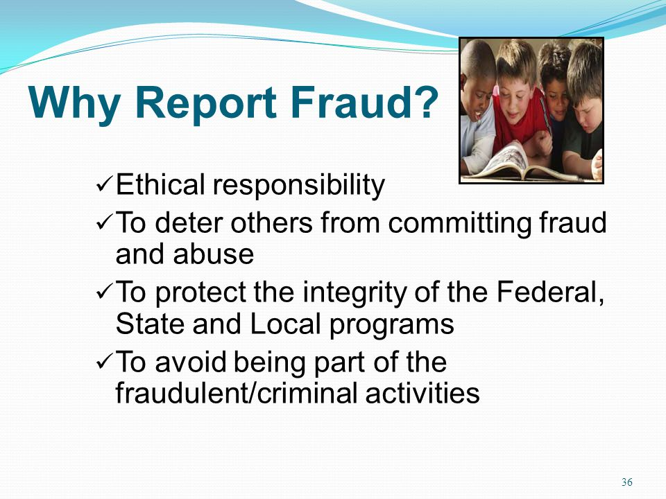Why Report Fraud Ethical responsibility