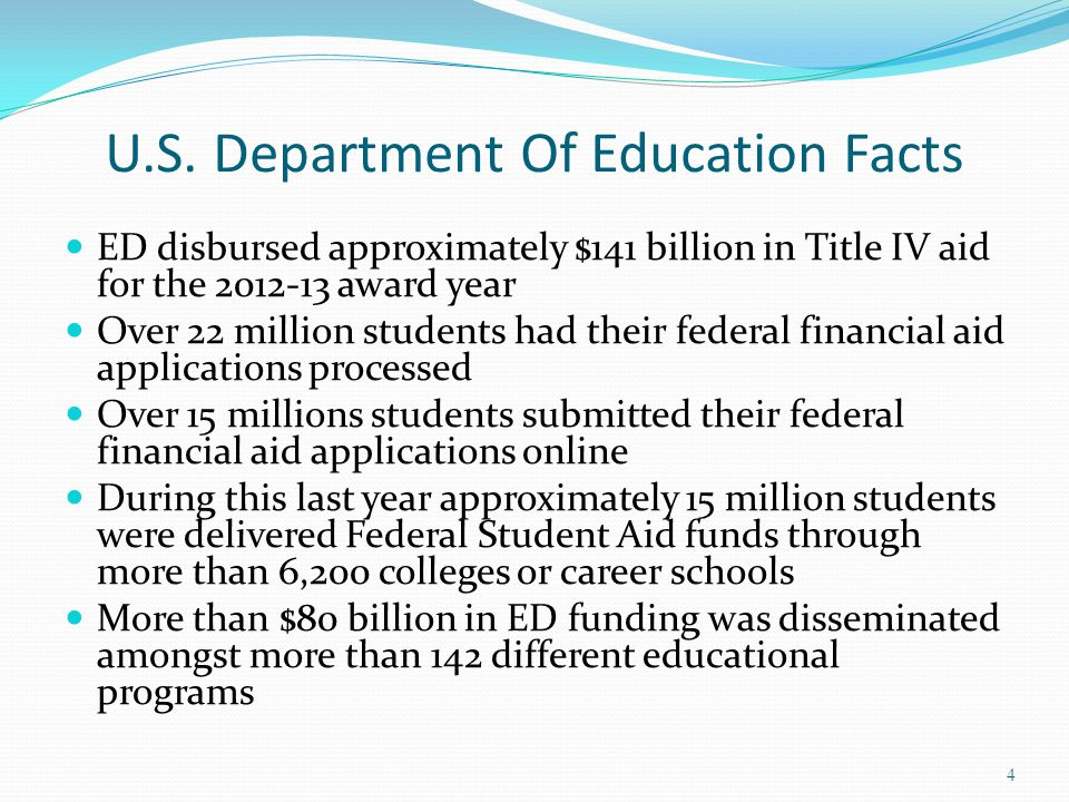 U.S. Department Of Education Facts