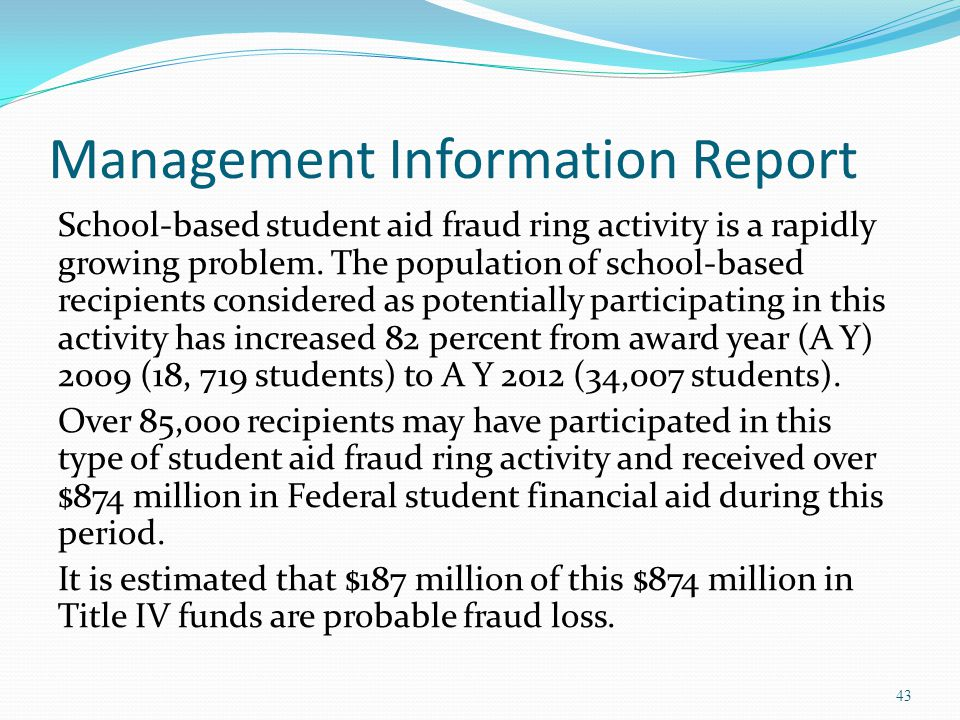 Management Information Report