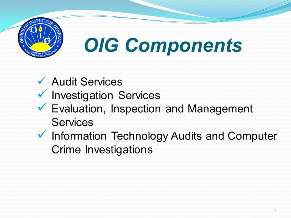 OIG Components Investigation Services