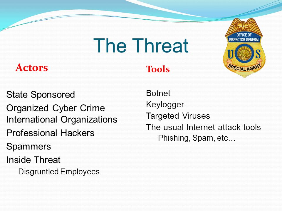 The Threat Actors Tools State Sponsored