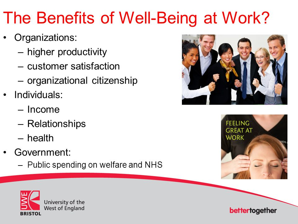 The Benefits of Well-Being at Work