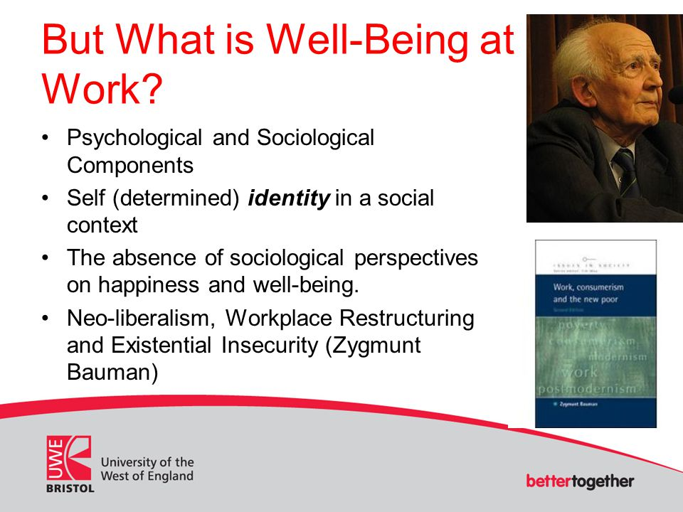 But What is Well-Being at Work