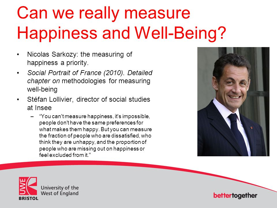 Can we really measure Happiness and Well-Being