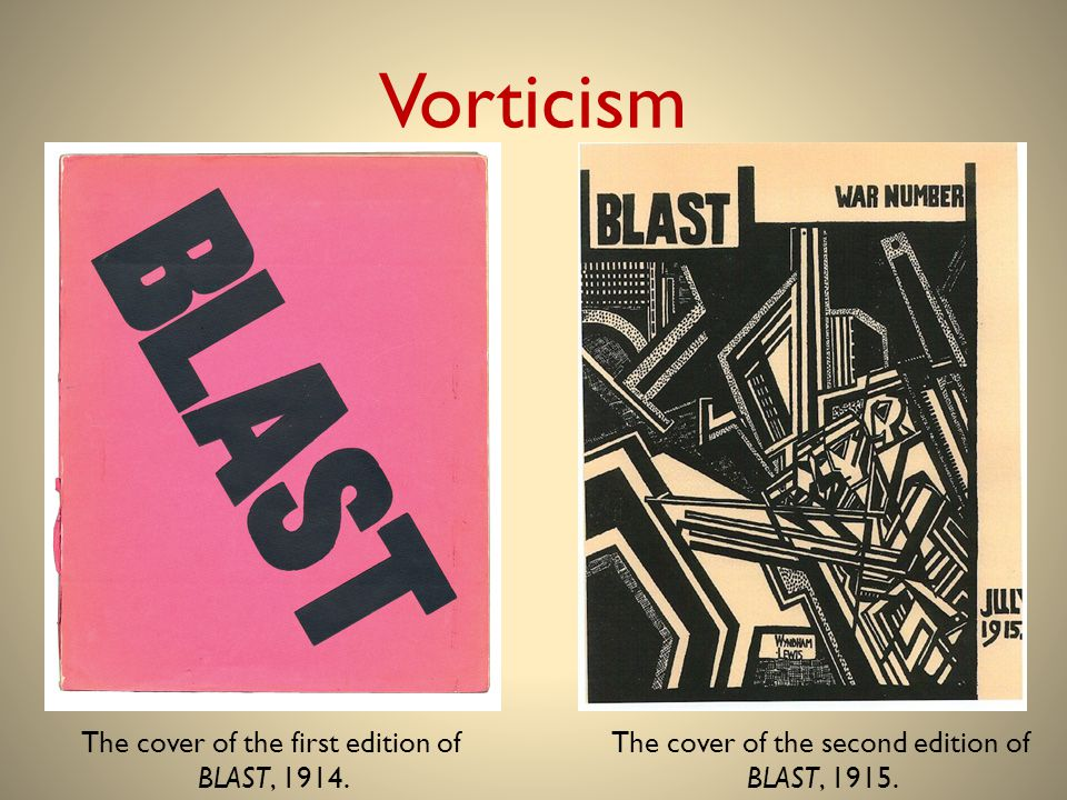 Vorticism The cover of the first edition of BLAST, 1914.