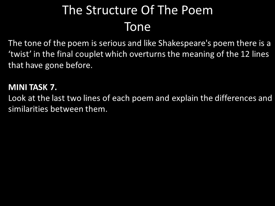 The Structure Of The Poem