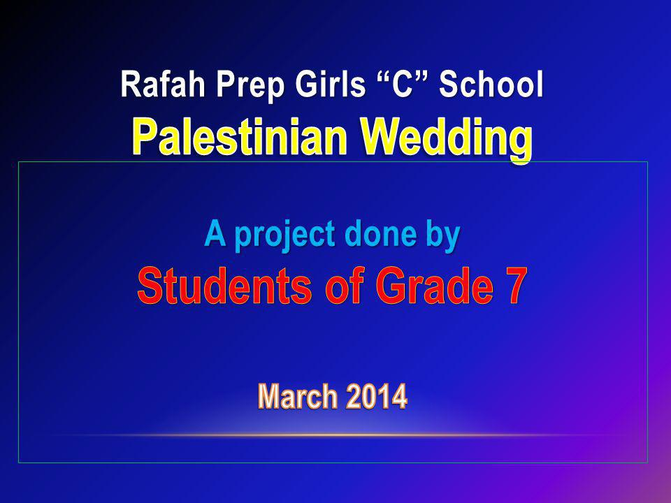 Rafah Prep Girls C School Palestinian Wedding