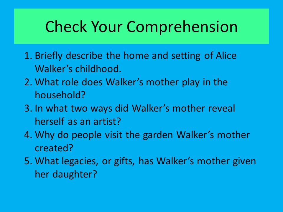 Check Your Comprehension
