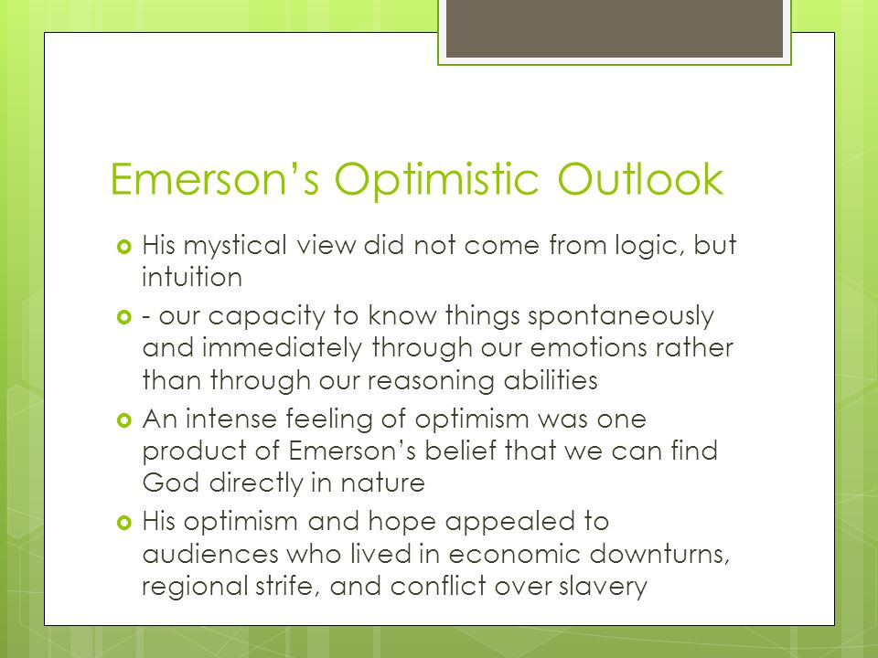 Emerson's Optimistic Outlook