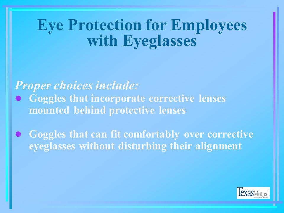 Eye Protection for Employees with Eyeglasses