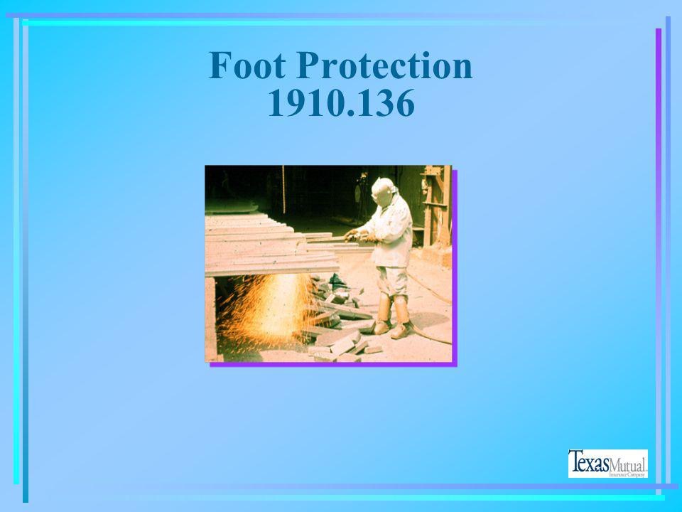Foot Protection 1910.136