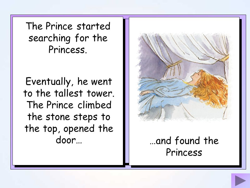 The Prince started searching for the Princess.