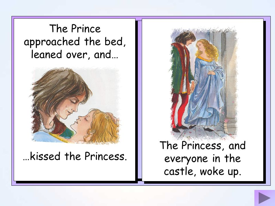 The Prince approached the bed, leaned over, and…