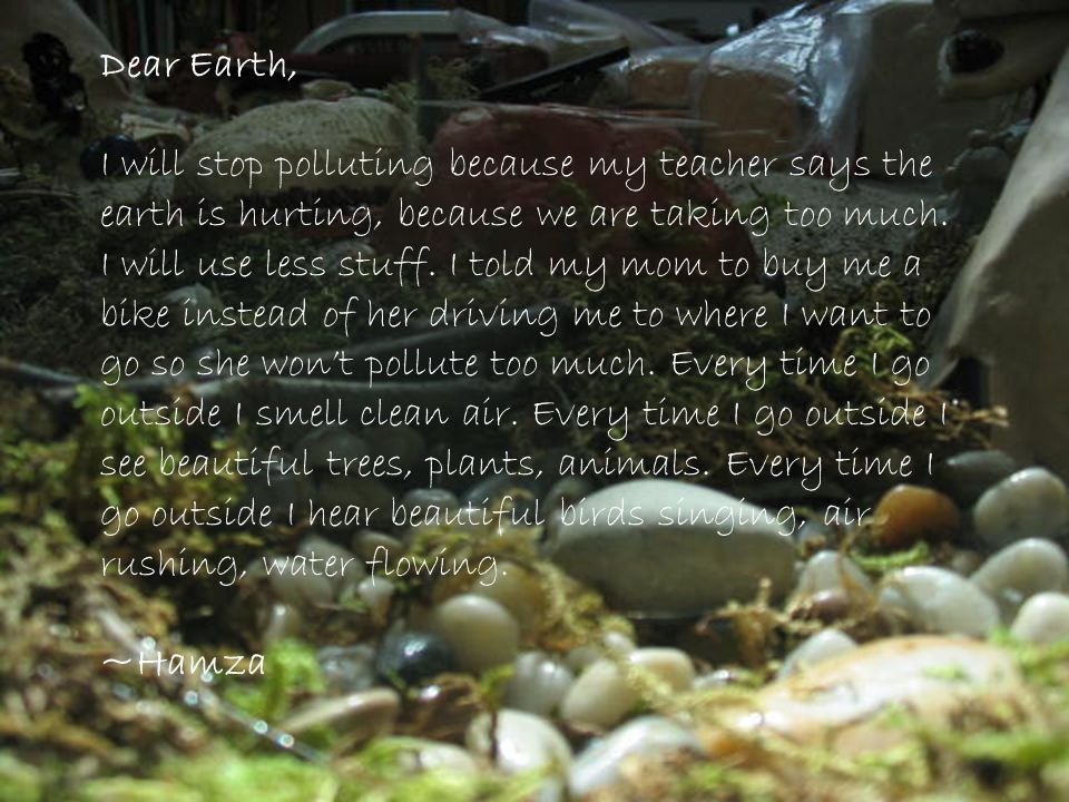 Dear Earth,