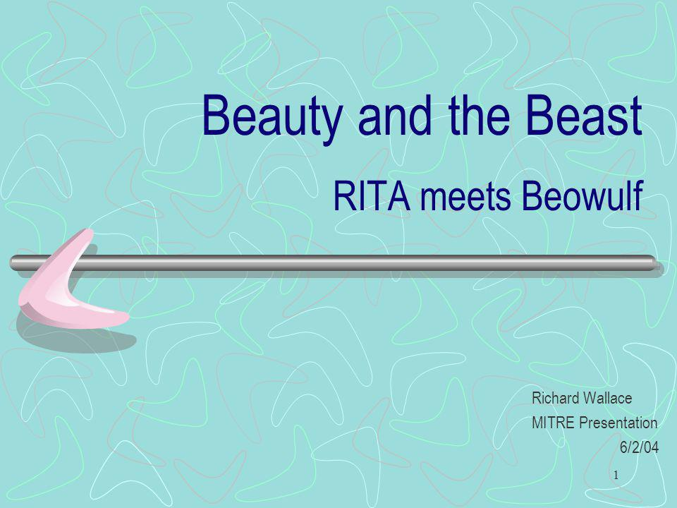 Beauty and the Beast RITA meets Beowulf