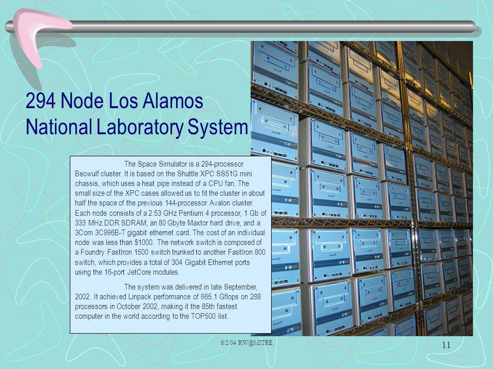 294 Node Los Alamos National Laboratory System