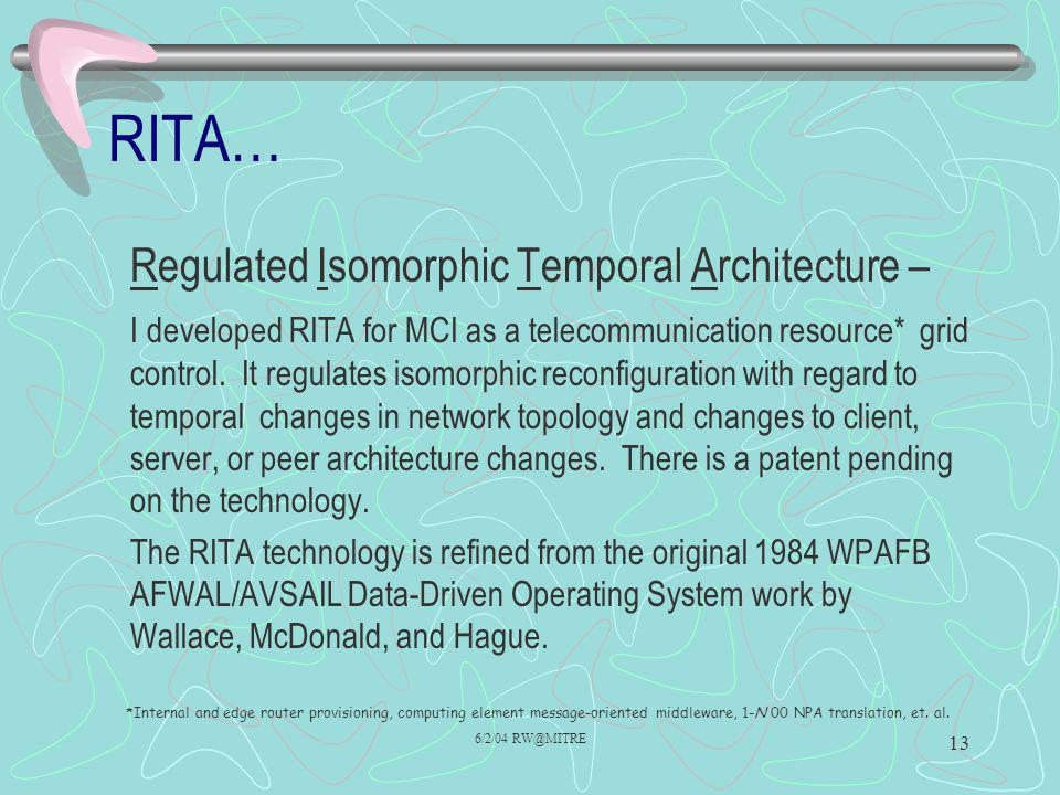 RITA… Regulated Isomorphic Temporal Architecture –