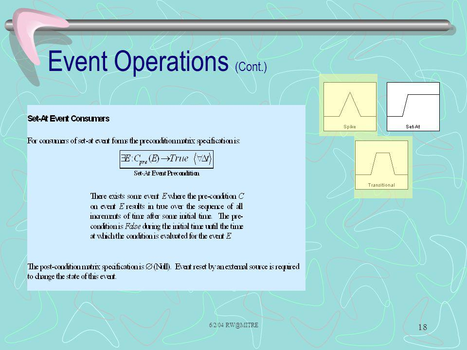 Event Operations (Cont.)