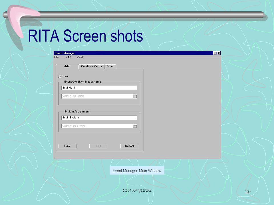RITA Screen shots
