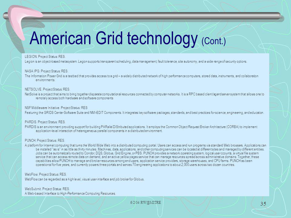 American Grid technology (Cont.)