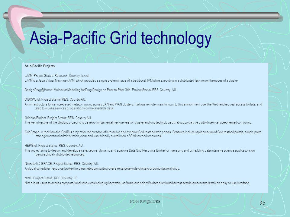 Asia-Pacific Grid technology