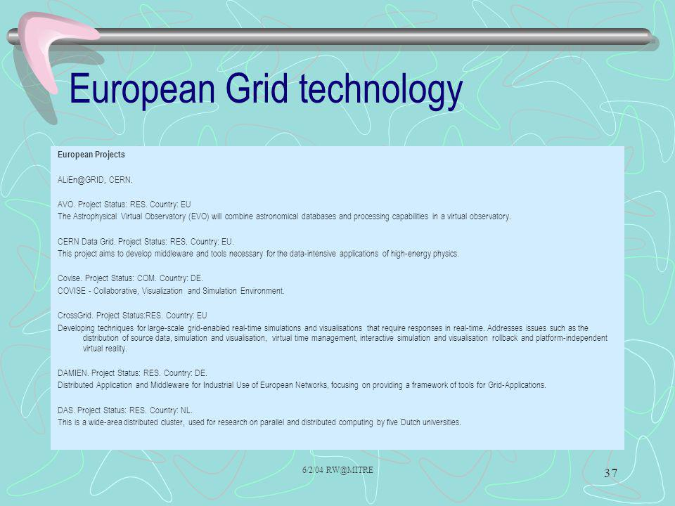 European Grid technology