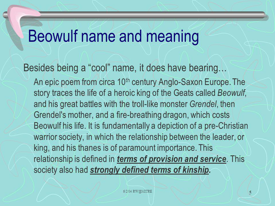 Beowulf name and meaning
