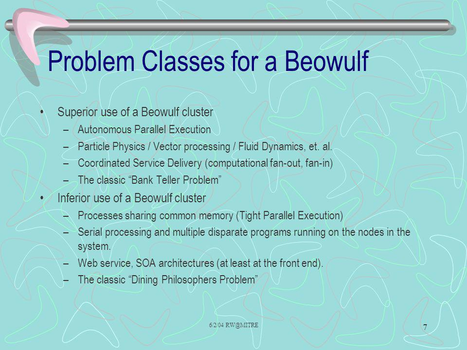 Problem Classes for a Beowulf