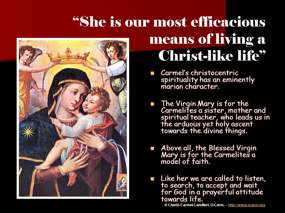 She is our most efficacious means of living a Christ-like life
