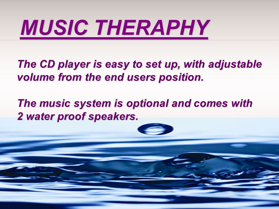 MUSIC THERAPHY The CD player is easy to set up, with adjustable