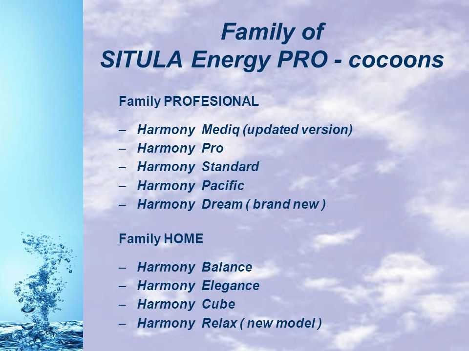 Family of SITULA Energy PRO - cocoons