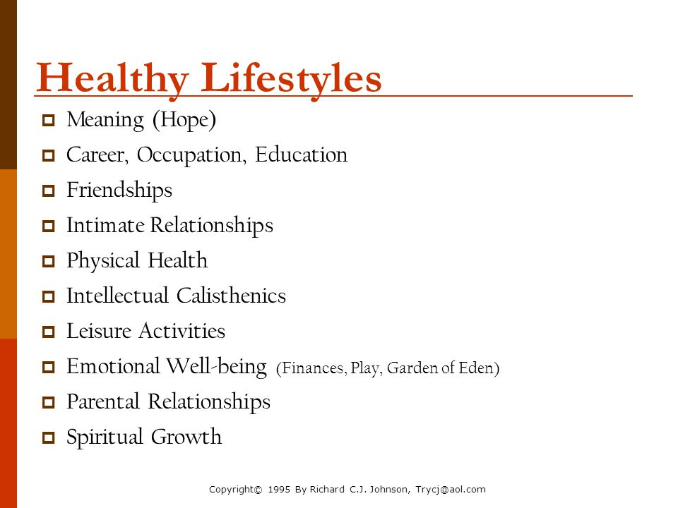 Healthy Lifestyles Meaning (Hope) Career, Occupation, Education