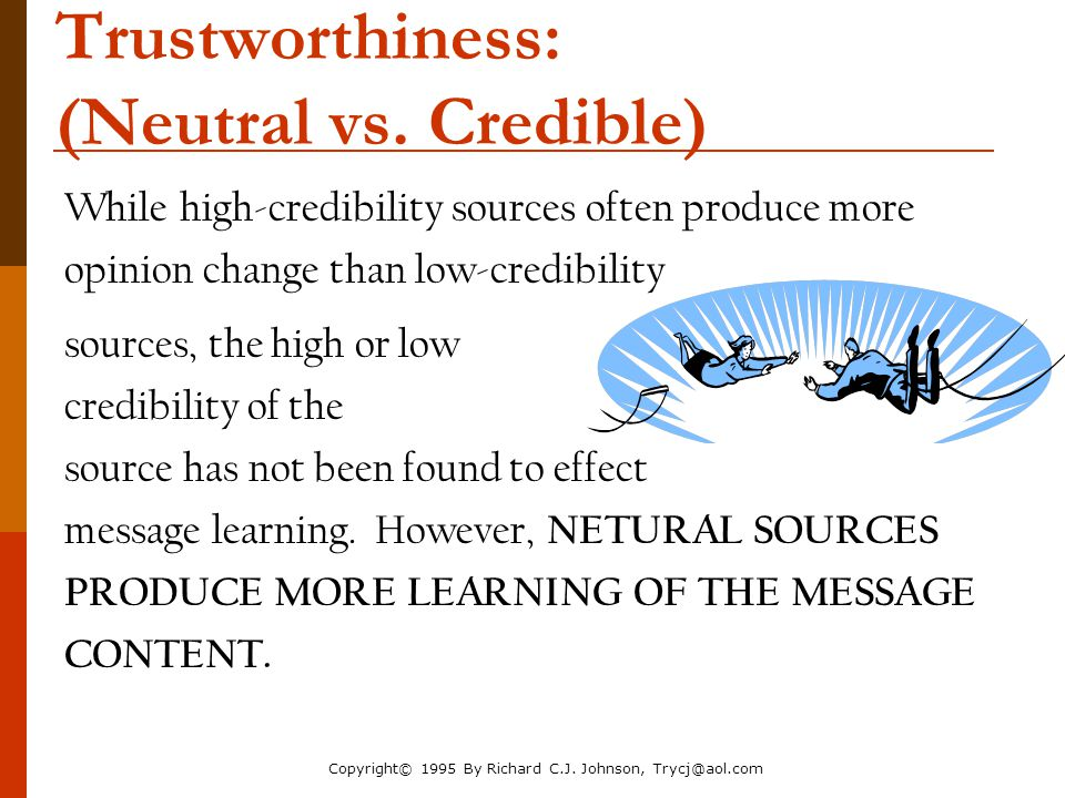 Trustworthiness: (Neutral vs. Credible)