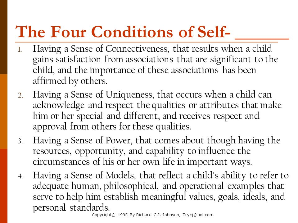 The Four Conditions of Self- ______