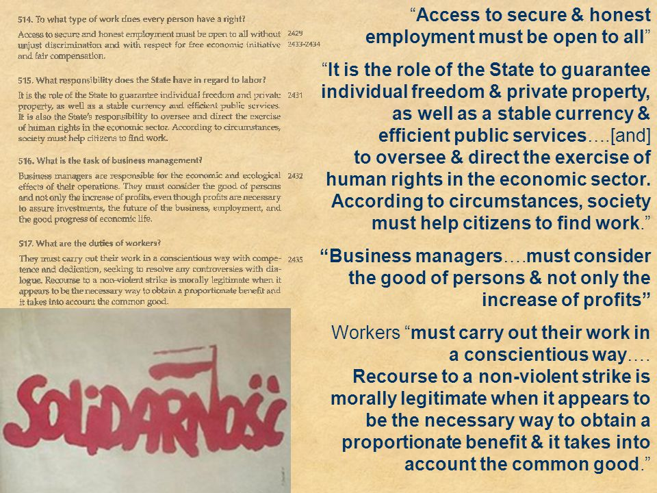 Access to secure & honest employment must be open to all