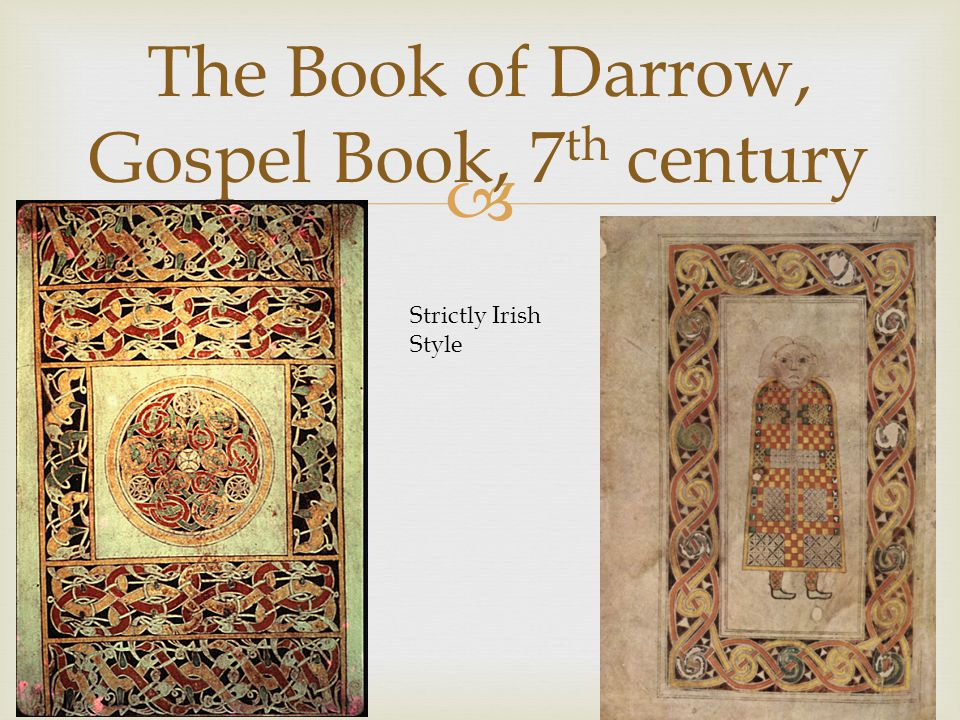 The Book of Darrow, Gospel Book, 7th century