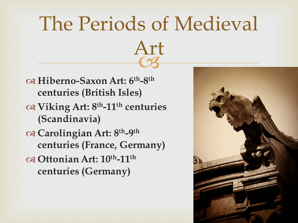 The Periods of Medieval Art