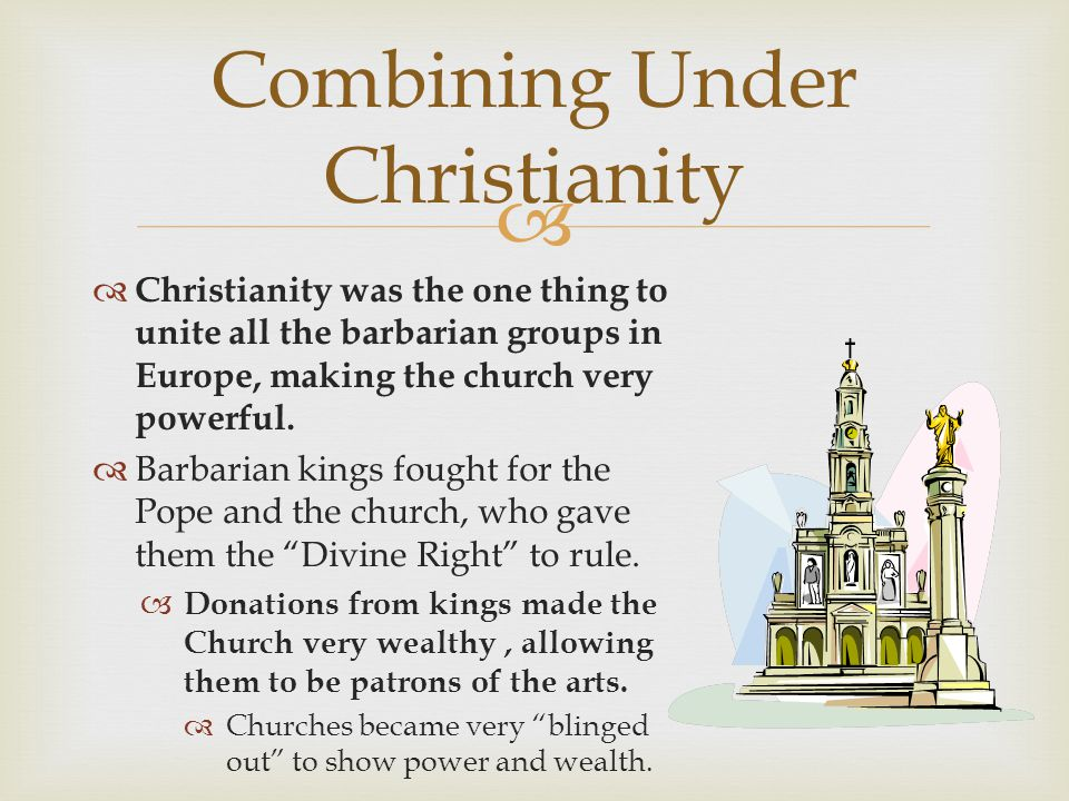 Combining Under Christianity