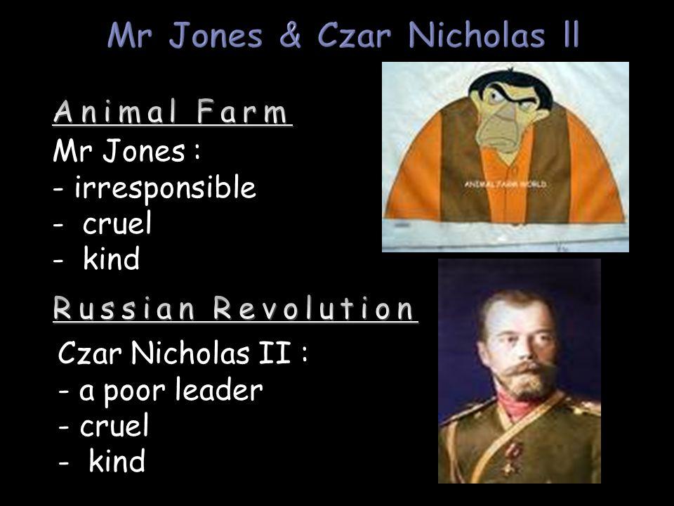 Mr Jones & Czar Nicholas ll