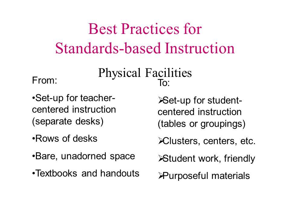 Best Practices for Standards-based Instruction